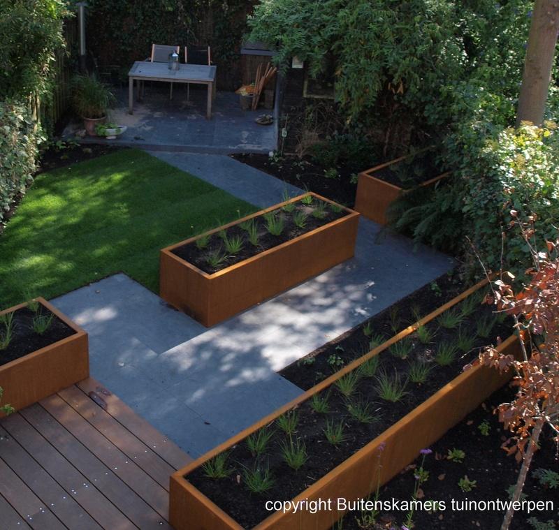Tuinontwerp buitenskamers tuinontwerpen for Tuinontwerpen achtertuin